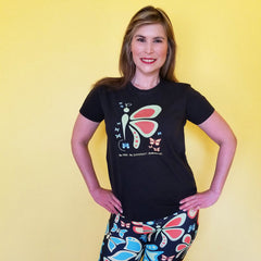 This Butterflylove T-Shirt is for you! Pre-shrunk to make sure your size is maintained throughout several washes. Use it with your favorite leggings and jeans by RedButterfly by Omaris
