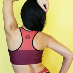Redblossom Brown Sports bra