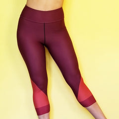 Redblossom Brown Capris High Waisted