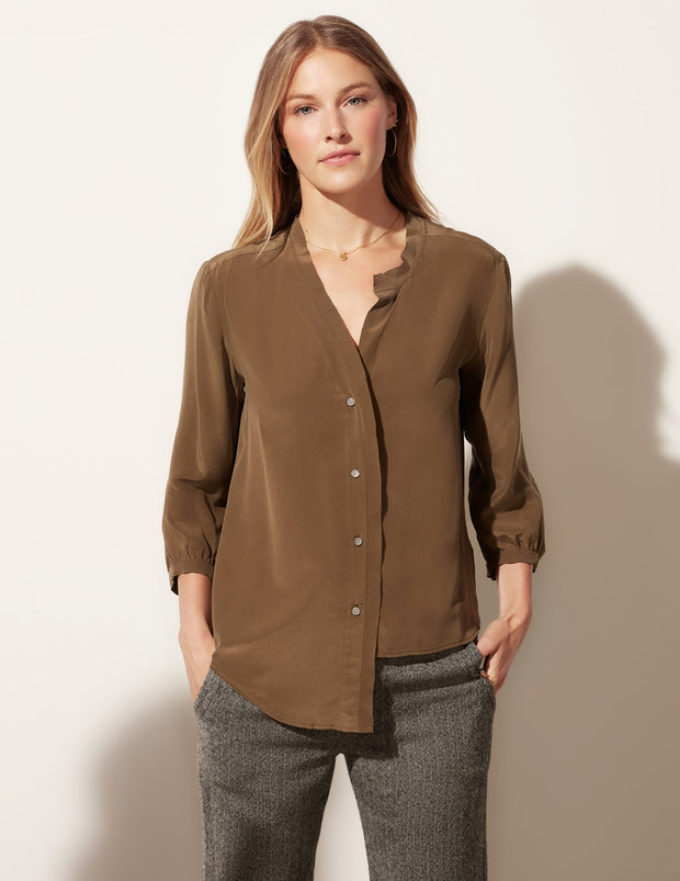 Lantern Sleeve Button Down