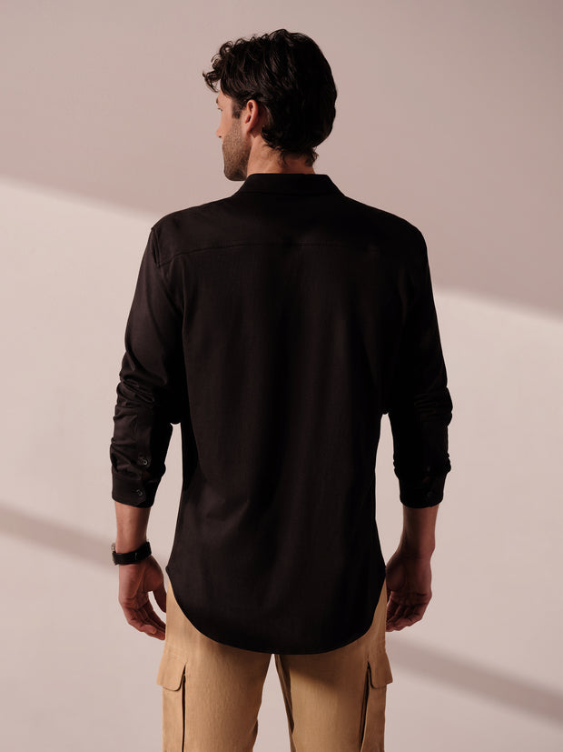 Long Sleeve Jersey Button Down