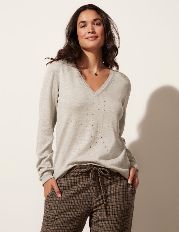 Nob Hill V Neck Sweater