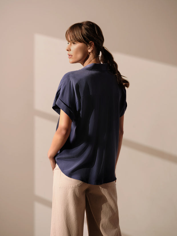 Two Pocket Muscle Sleeve Top