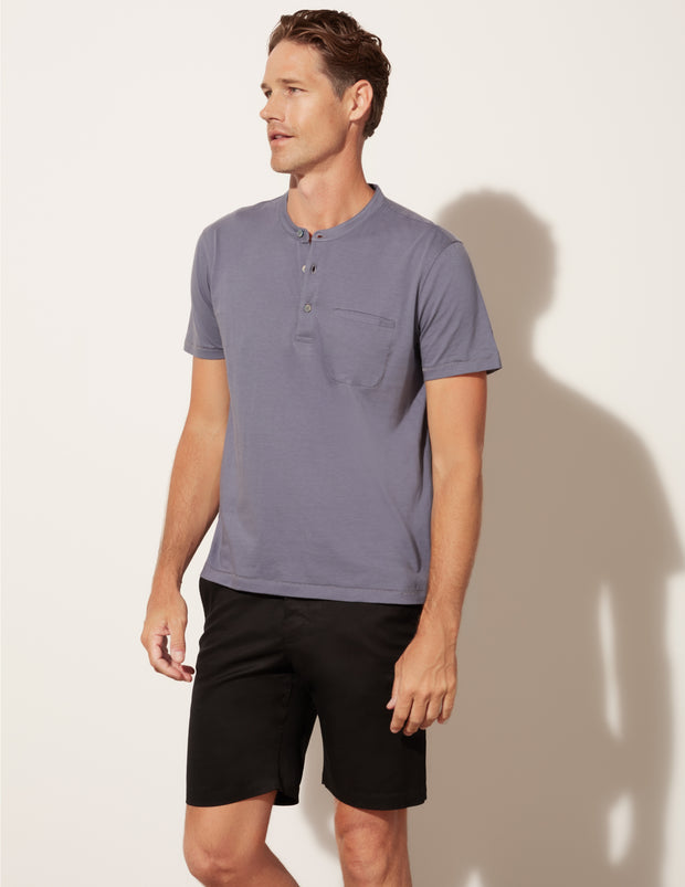 Short Sleeve Pocket Henley