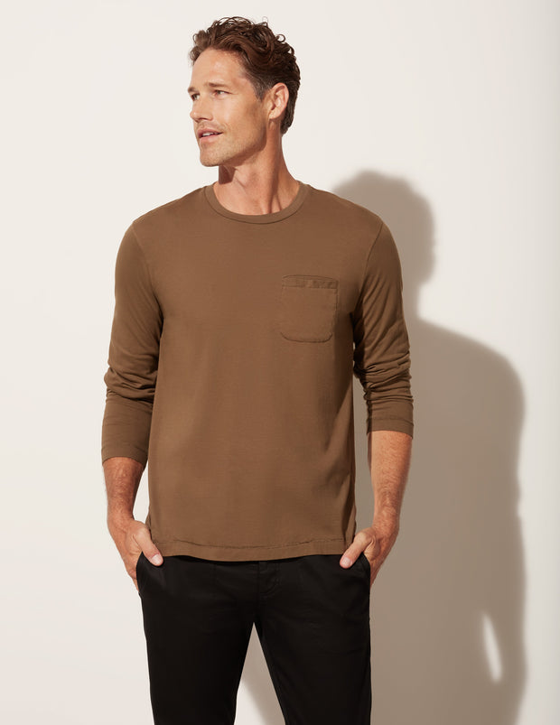 Long Sleeve Pocket T Shirt
