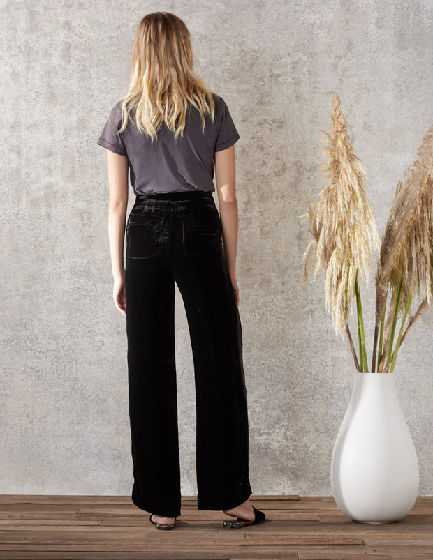 Black Velvet Hello Sailor Pant