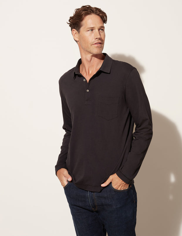 Long Sleeve Pocket Polo