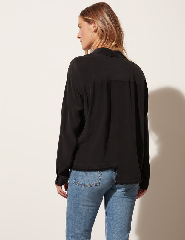 Oversized Step Hem Button Down