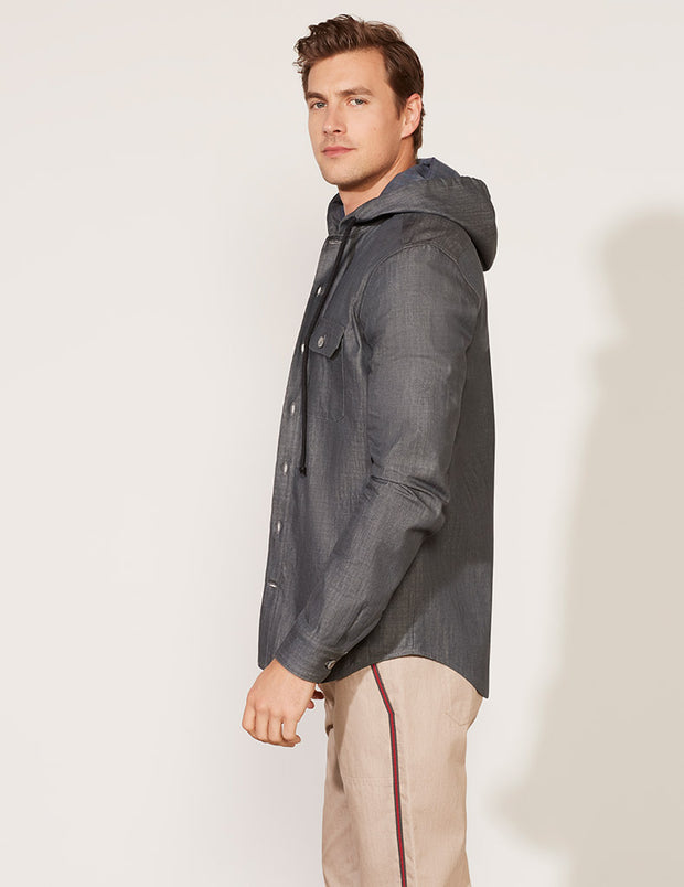 Hooded Shirt Jacket