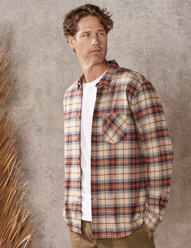 Frontier Plaid Long Sleeve Everyday Button Down
