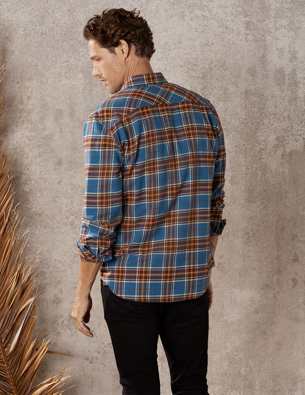 Hickory Plaid Long Sleeve Everyday Button Down