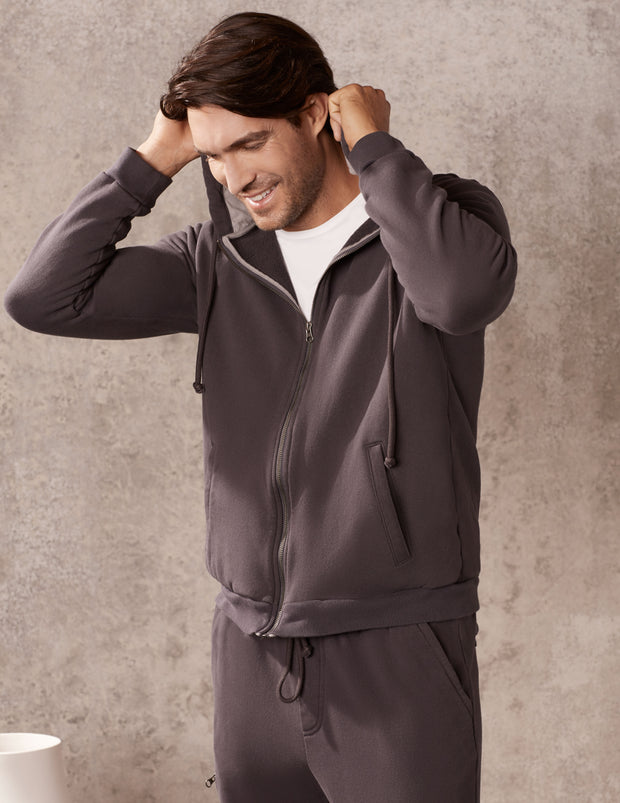 Gunmetal Everyday Zip Up Hoodie