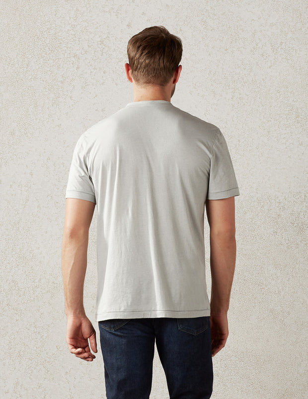 S/S Pocket Henley in Cashmere Jersey