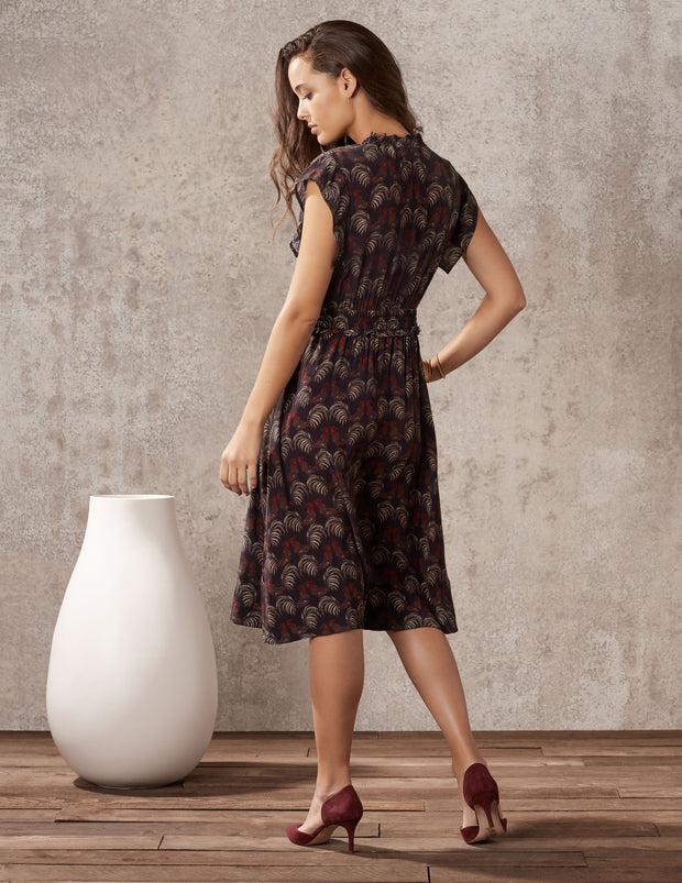 women's button down midi dress