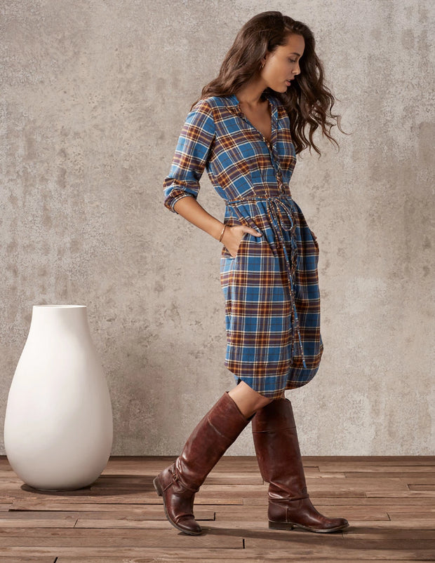 Hickory Plaid Shirtdress