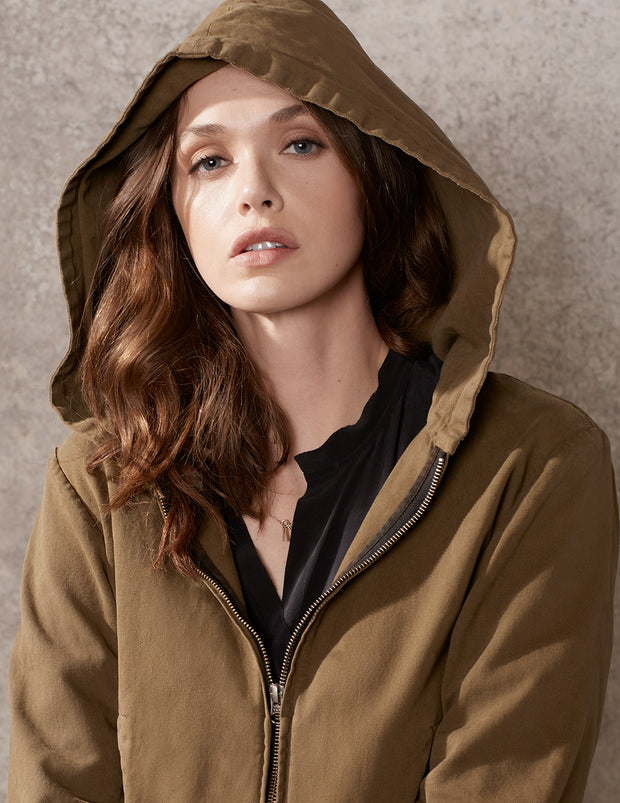 Boxy Hooded Jacket