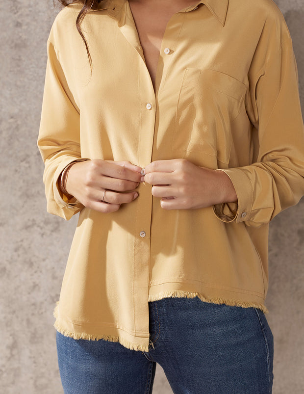 Nugget Oversized Button Down Top