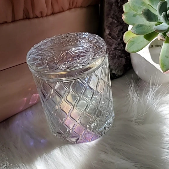 CLEAR CRYSTAL STASH JAR