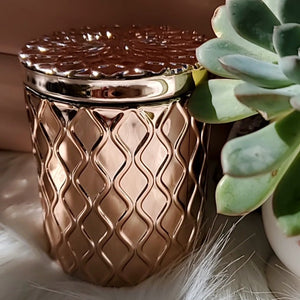 ROSE GOLD CRYSTAL STASH JAR