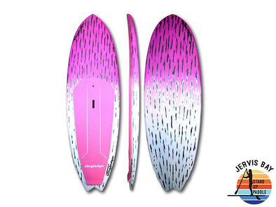 "Alley Design 8'10"" x 32"" x 4.5"" Pink Brushed Carbon Performance Surf SUP"
