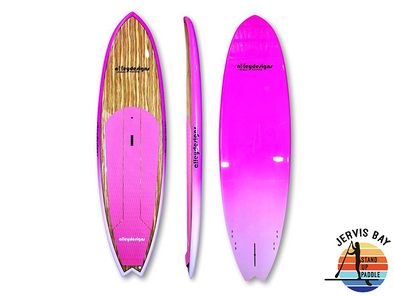 "Alley Designs 10' x 32"" Timber Deck Pink Fade Performance SUP"