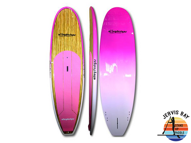 "Alley Designs 10' x 32"" Timber With Pink to White Fade Classic SUP"