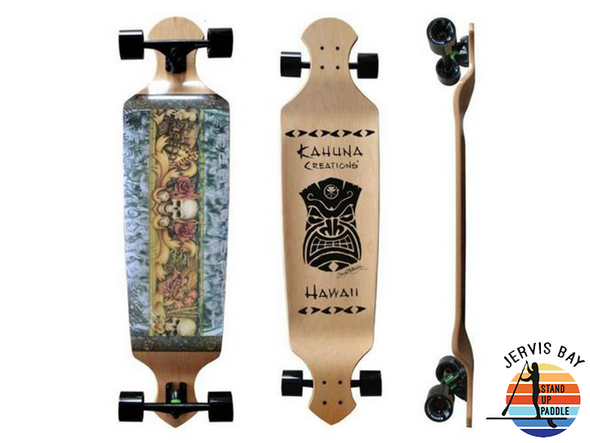 "Kahuna Creations Island Lifestyle Drop Deck 43"" x 10.5"" x 2.5""  Longboard Complete"