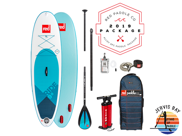 Red Paddle Co Ride 2019 Inflatable Paddle Board 9'8 Ride Alloy