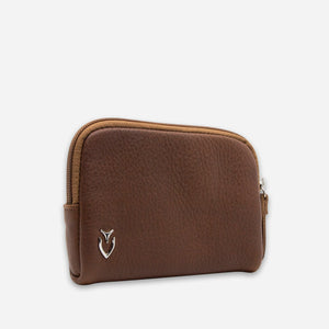 Genuine Leather Zipper Pouch