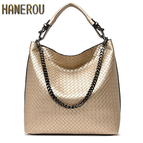 Chain Bucket Women Bag New Fashion Leather