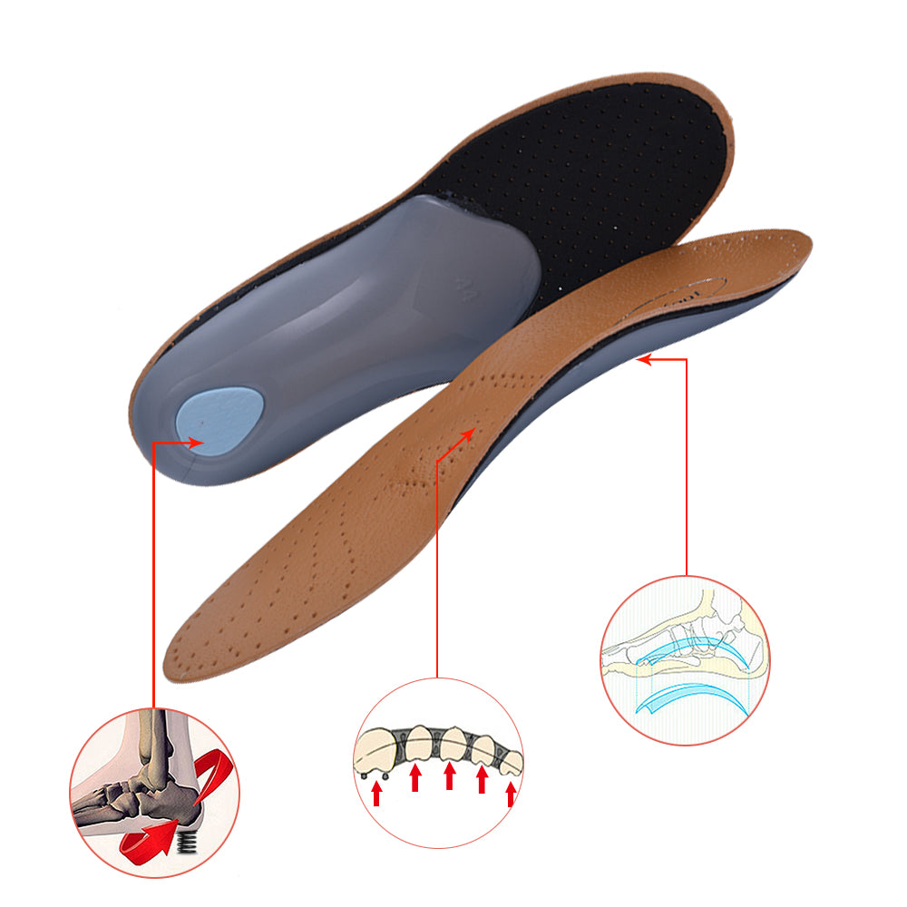 3D Premium healthy Leather orthotic insole