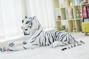 3D three-dimensional plush toys white tiger