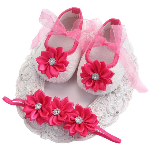 New Born Baby Shoes Girls Butterfly-knot Infant