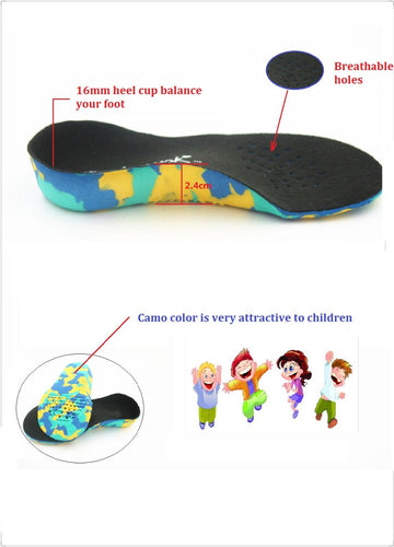 fromUfoot Kid's EVA Arch Support X-Legs Flat Foot Orthotics