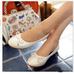 New Women Ballet Flats Genuine Leather