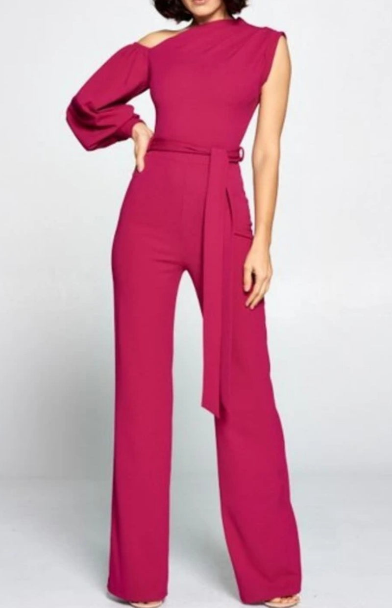 Zaria  One-Shoulder Jumpsuit