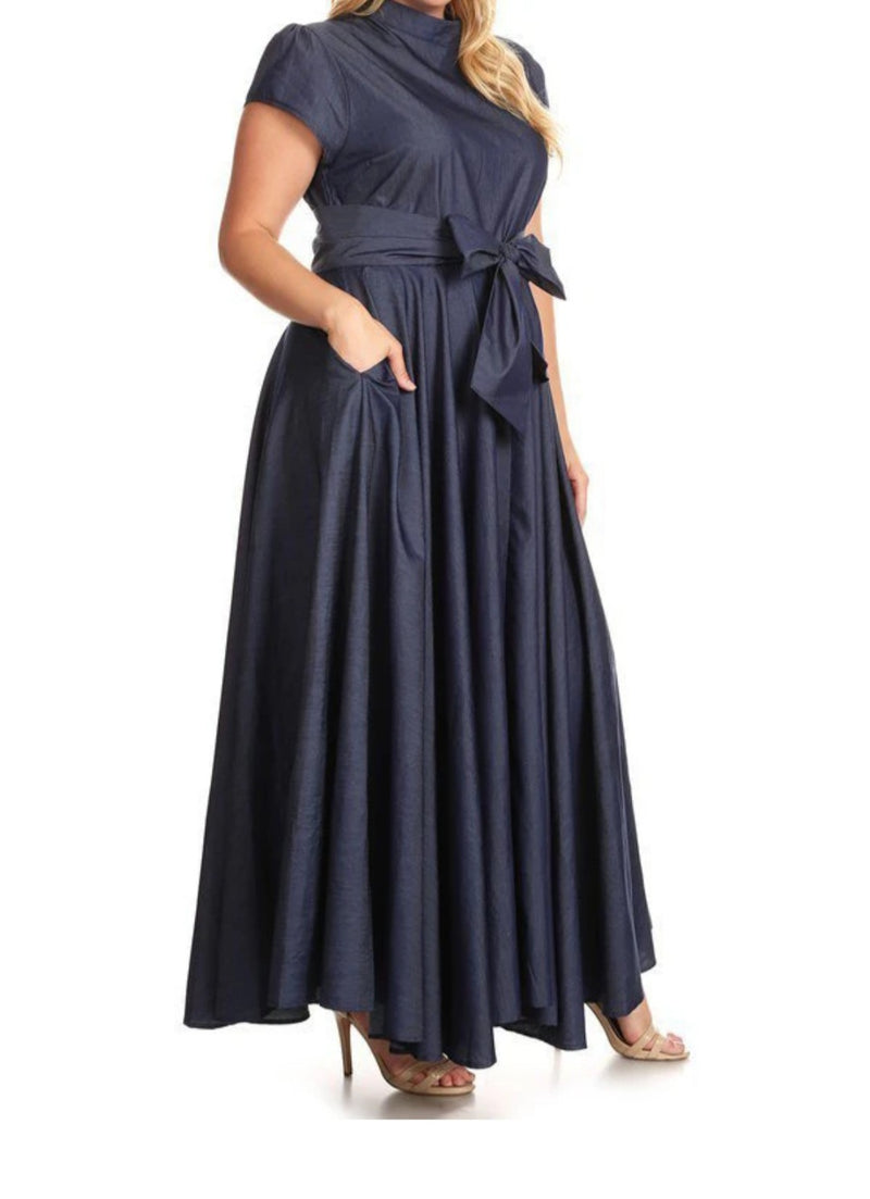 Liz' Denim Maxi Dress