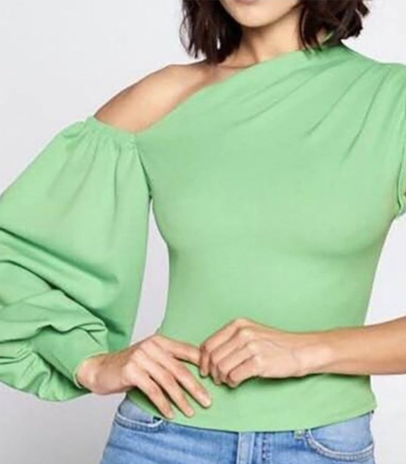 Taylor Chic One-Shoulder Top