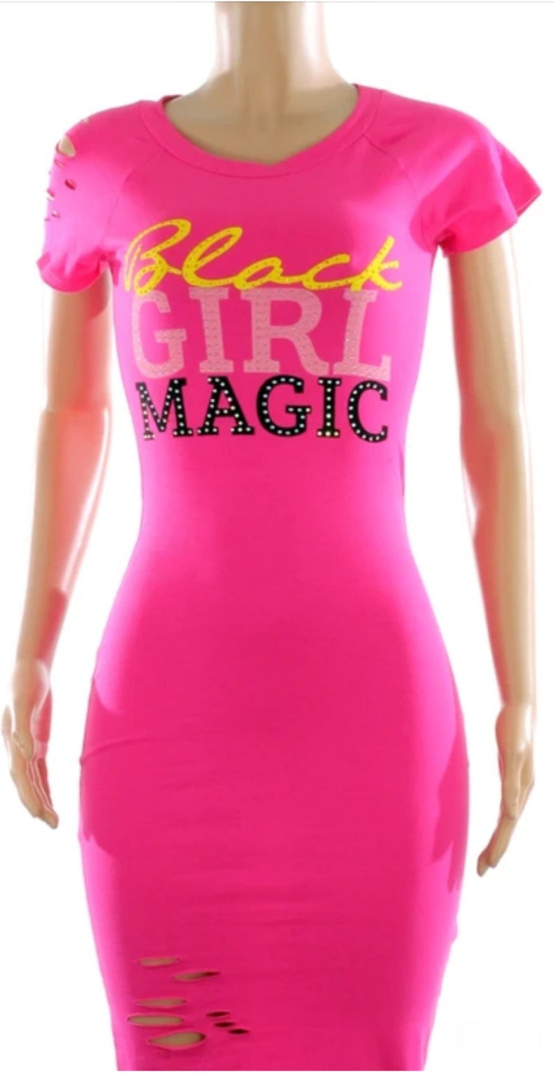 Black Girl Magic T-Shirt  Dress