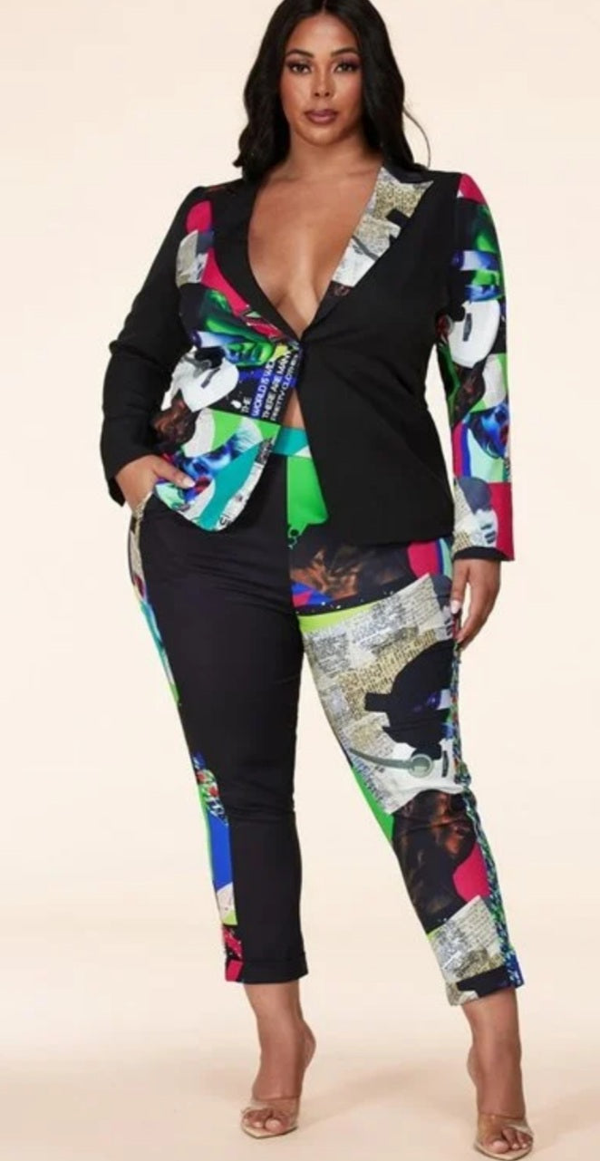 """Poppin Art "" Pant Suit"