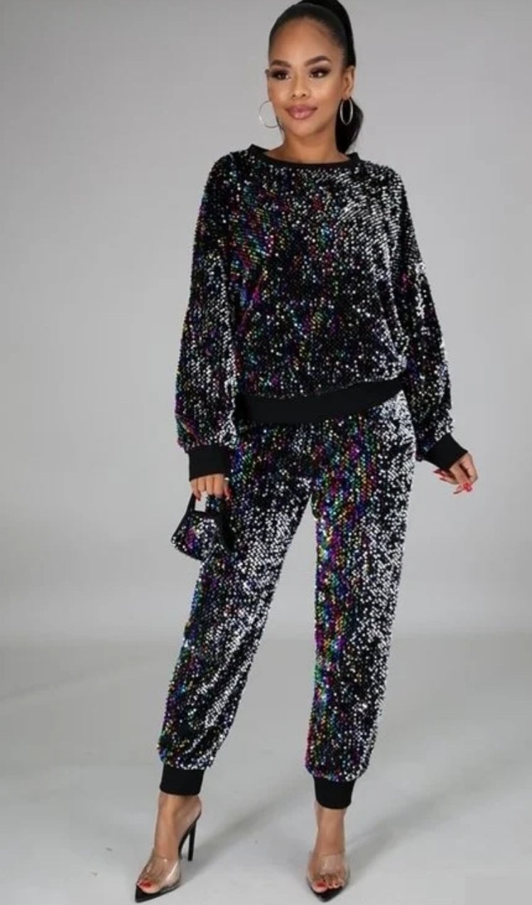"""Sparklin"" Bling Jogger w/Facemask"