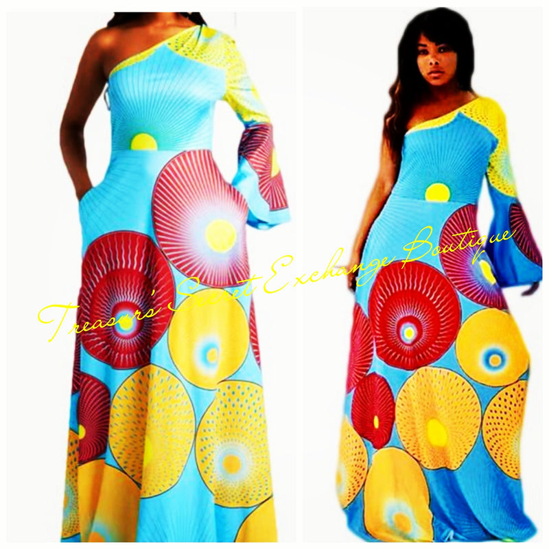 """Kani"" One-Shoulder Maxi Dress"