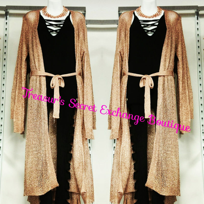 Gold Metallic Duster w/Belt
