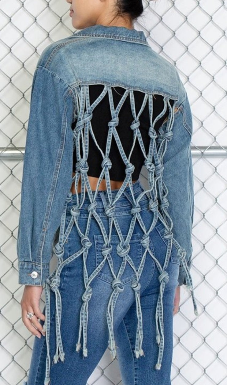 Denim -Back Cage- Jacket