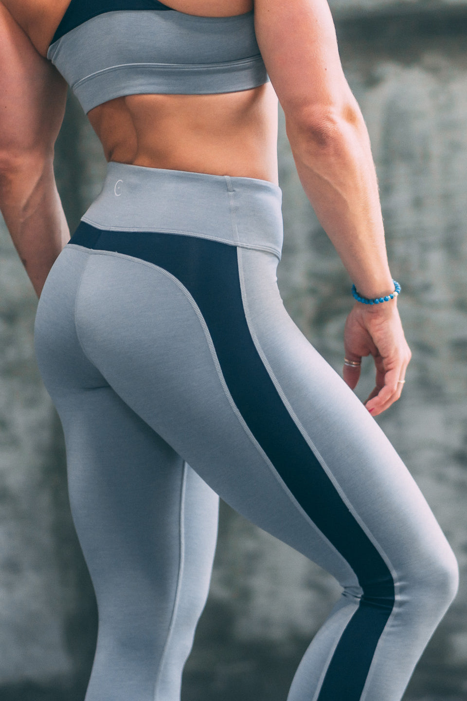 ENCE Training Leggings- Grey/ Navy