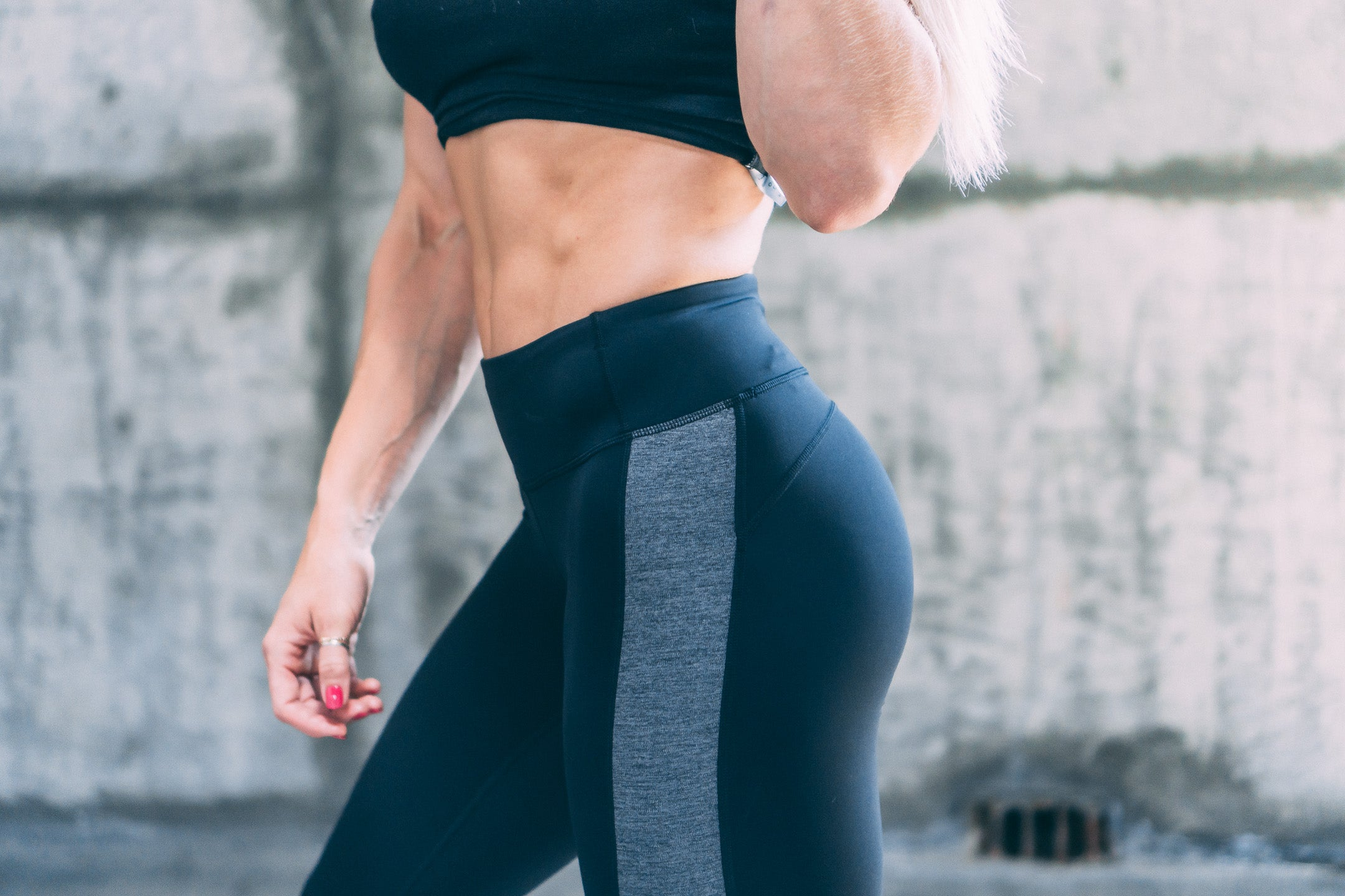 Yummy Yoga Leggings- Black/ Grey