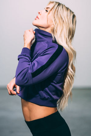 Track Jacket - Purple/Black