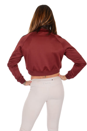 Ence Track Jacket - Burgundy/Black