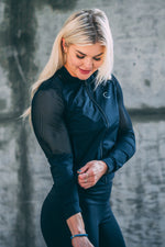 Mesh Sleeve Track Jacket - Black