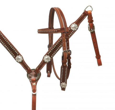 13592 Showman Pony Bridle and Breast plate Tack Set